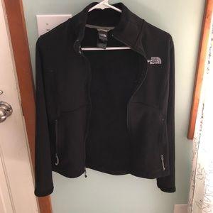 Black North Face Zip Up Jacket Fleece lined